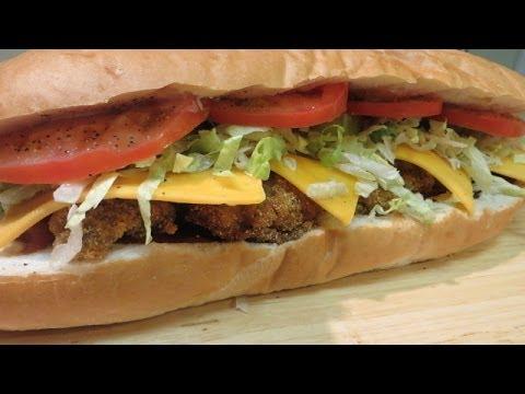 Po' Boy – Fried Oyster Po'Boy Sandwich – The 'Peacemaker' – The Wolfe Pit