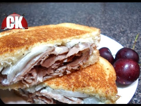 Grilled Cheese – Grilled Blue Cheese and Roast Beef Sandwiches – Chef Kendra's Easy Cooking!