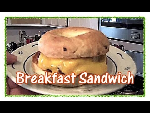 How to Make a Sausage, Egg and Bagel Breakfast Sandwich