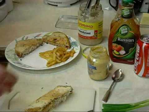 Reuben Sandwich avec pommes friites