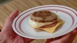 The Best Breakfast Sandwich. Ham Egg and Cheese!
