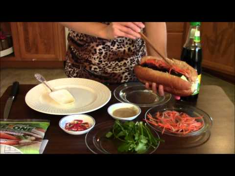 Vegan vietnamese sandwich ( Banh Mi )