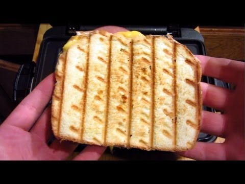 Foreman Grill Recipe: Grilled Ham and Cheese Sandwich!