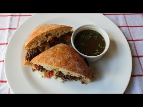 "Chicago Italian Beef Sandwich ""Stew Meat Edition"" – Stewed Italian Beef Sandwich"