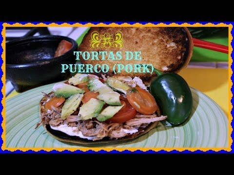 HOW TO MAKE A PORK TORTA Mexican Pulled Pork Sandwich