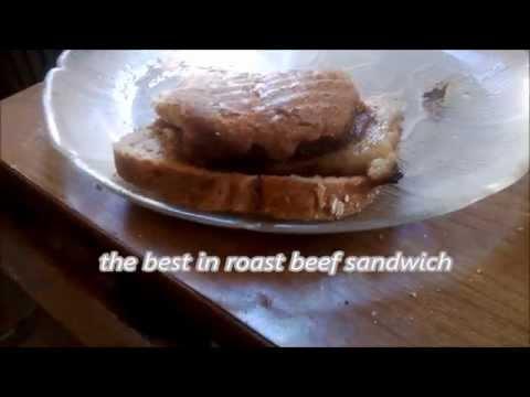 Making roast beef sandwich
