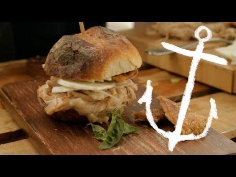 How to make Pulled Pork Sliders with Superstar Crackling recipe Bondi Harvest