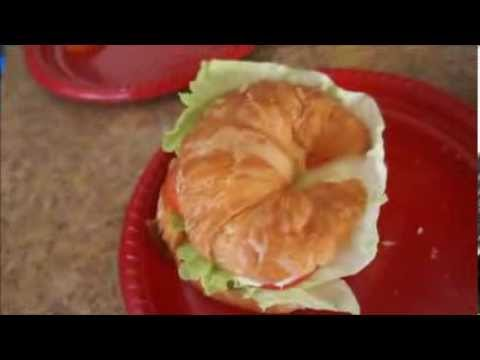99 CENTS ONLY store meal : How to make a ham croissant sandwich CHEAP recipe tutorial !
