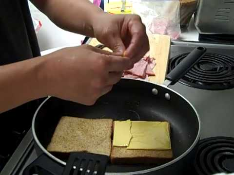 best grilled ham + cheese sandwich – yummmm