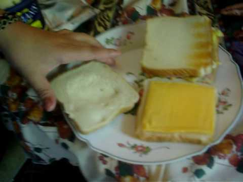 How to make A cheese and egg and ham sandwich