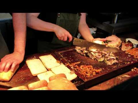 Prepping Porchetta Sandwiches at Meat & Bread