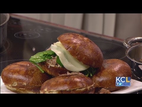 KCL – Chef Jasper Mirabile makes a pretzel bread sandwich for National Pretzel Day