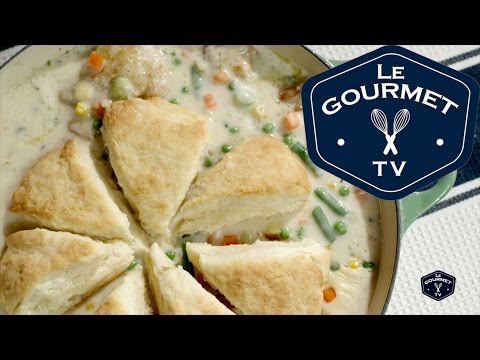 Biscuit Topped Chicken Pot Pie Recipe – LeGourmetTV