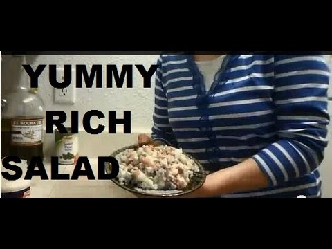 """How To Make Vegetable Olivieh Salad Recipe"" ""Easy Chicken Potato Egg Pickles Salad Recipe"""