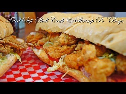 Fried Soft Shell Crab & Shrimp Po' Boys (Recipe)