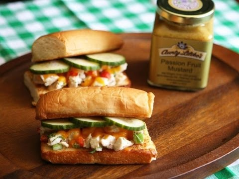 Flavors of Hawaii: Lilikoi Mustard Chicken Salad Sandwich