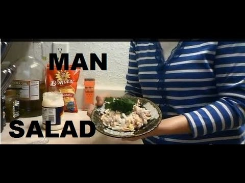 """How to Make Chicken Egg Cheese Mayonnaise Salad Recipe""  ""Easy Simple Chicken Eggs Salad Recipe"""