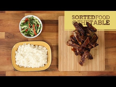 Ribs and Coconut Rice   SortedFood @ The Table