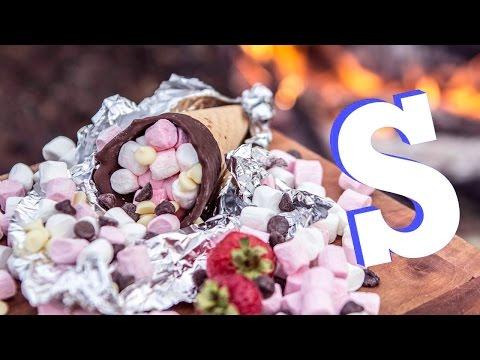 Sensational S'more Cones!! | Camp Food Pt.2