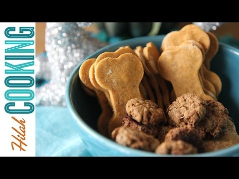 Homemade Dog Treats collab with JustEatLife! | Hilah Cooking