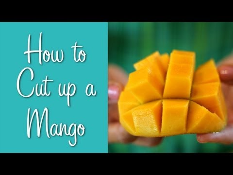 How To Cut Up a Mango, Dangerously! (Learn To Cook)
